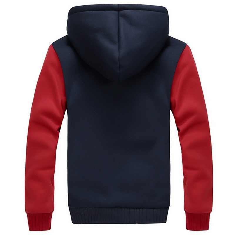 HEFLASHOR 男性冬暖かいフリースプラスサイズパーカージャケットパーカーカジュアルストリートカーディガンコートティーンエイジャー