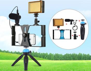 Mobile phone photography set Cellphone Live Rabbit Cage Set with tripod fill light and microphone