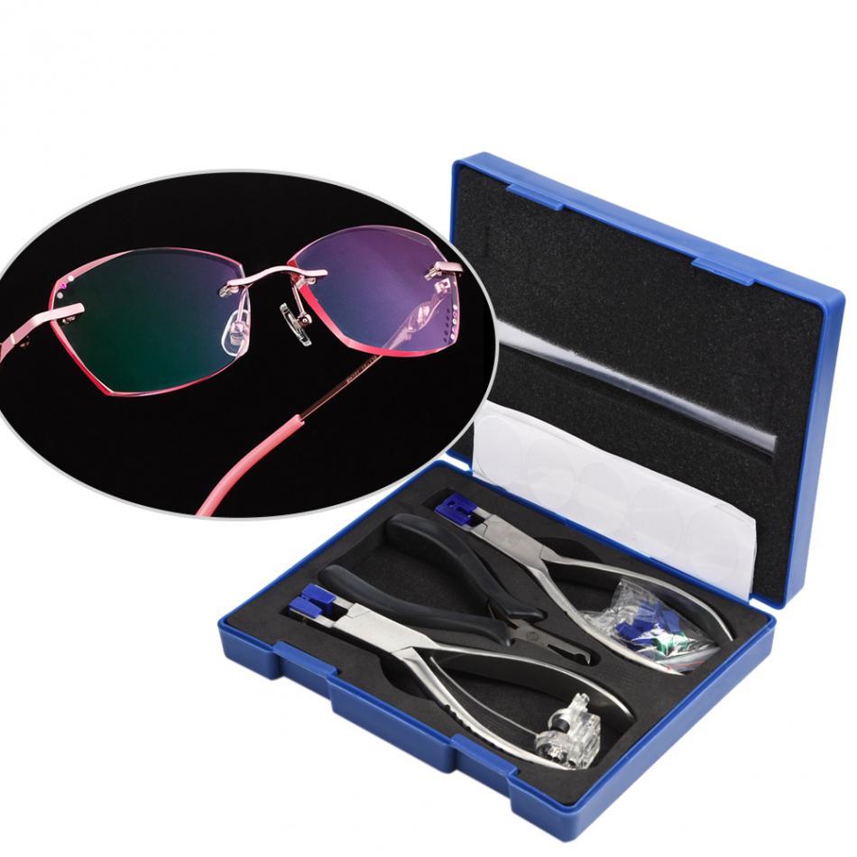 Professional Stainless Steel Eyeglasses Plier Set Rimless Disassembly Glasses Frames Optical Tool Kit For Repair Glasses Frames-in Ear Care from Beauty & Health    1