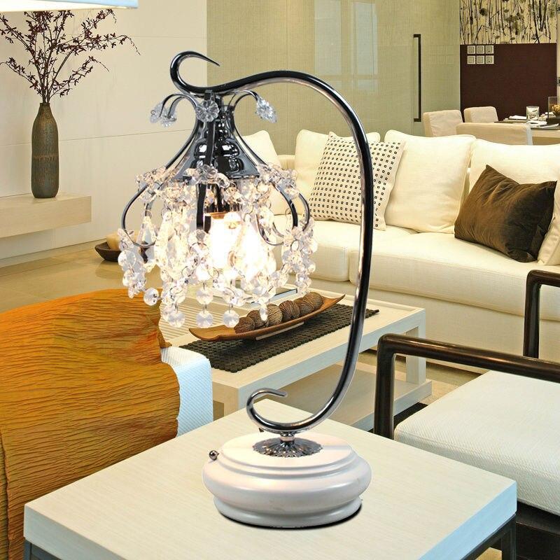 led bulb European modern minimalist bedroom bedside lamp crystal lamps bedroom living room lamp creative Dimmable A-37