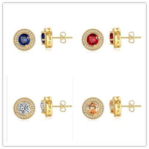 2020 New Classic AAA Cubic Zirconia Earrings Round Crystal From Swarovskis Girls Female Multicolor Fashion Jewelry Brincos