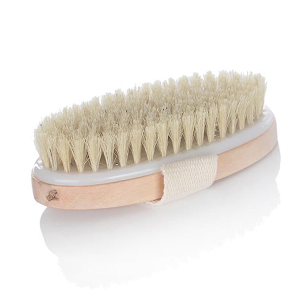 New 1Pcs Wooden Bath Shower Bristle Brush SPA Body Brush