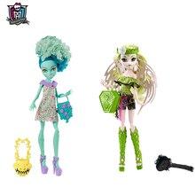 Original Monster High Honey Swamp And High Batsy Claro One Pcs Real Doll American Girl Toys For Girls Children CKD10