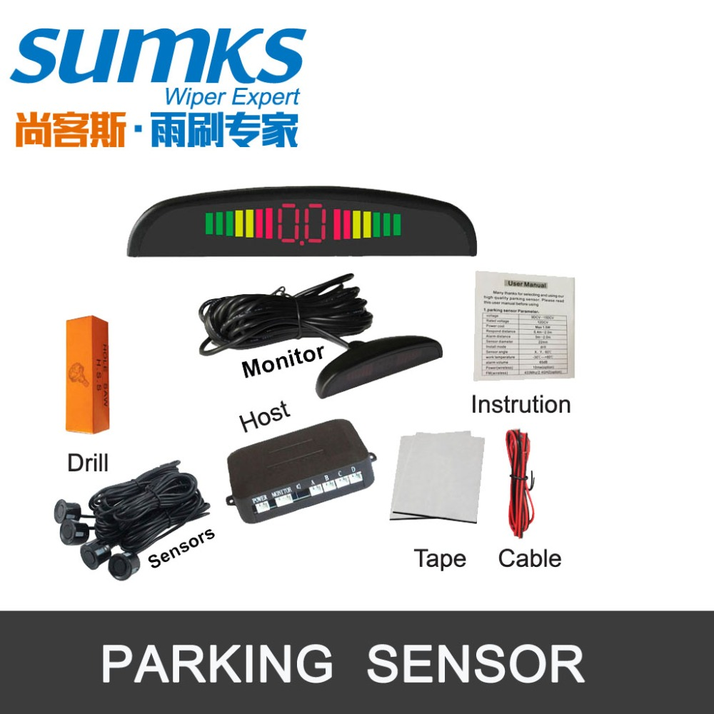 Wspomaganie parkowania samochodu Buzzer z 4 czujnikami i - Elektronika Samochodowa - Zdjęcie 4