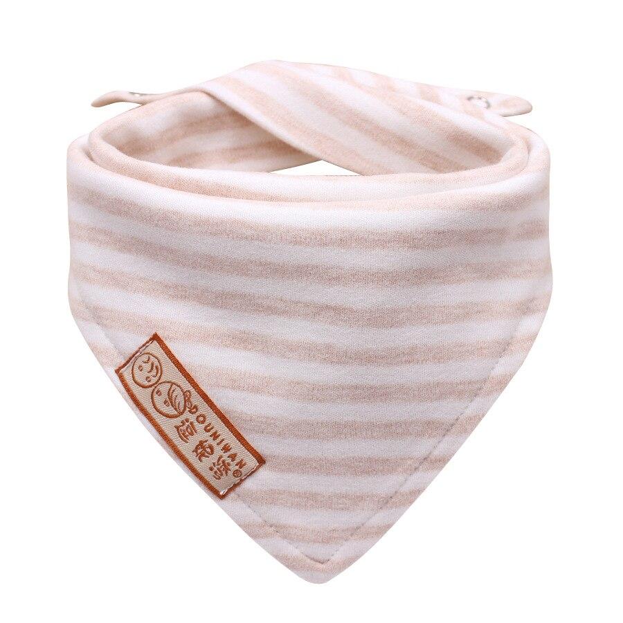 Nuevo color de algodón a rayas recién nacido baberos bebé a prueba - Ropa de bebé