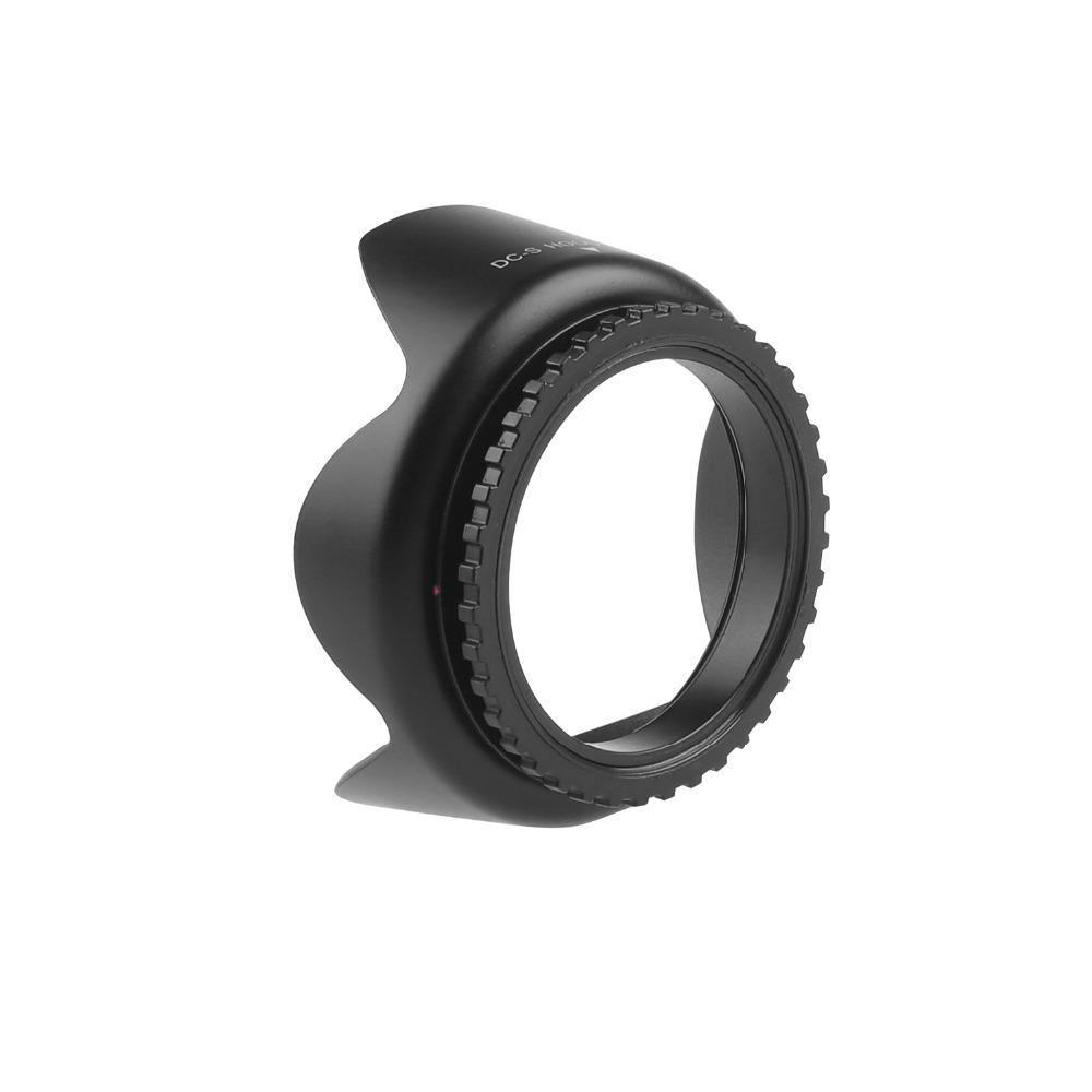 capsaver 55mm Lens Hood Screw Mount Flower Petal Tulip Lens Hood for Canon Nikon Sony Camera Accessories Lens Protect 5