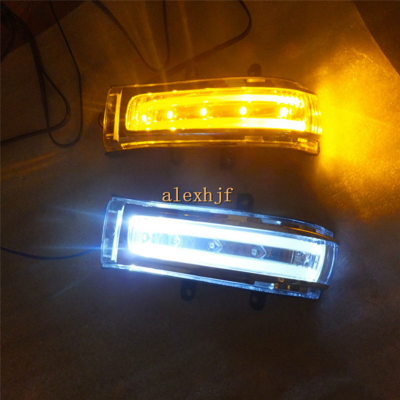 July King LED Rear-view Mirror Lights; LED Side Turn Signals, DRL case for Toyota HIGHLANDER RAV4 ALPHARD NOAH ESTIMA etc. eemrke for toyota voxy 2007 2008 2009 2010 2011 2012 2013 side rear view mirror lights led drl turn signals