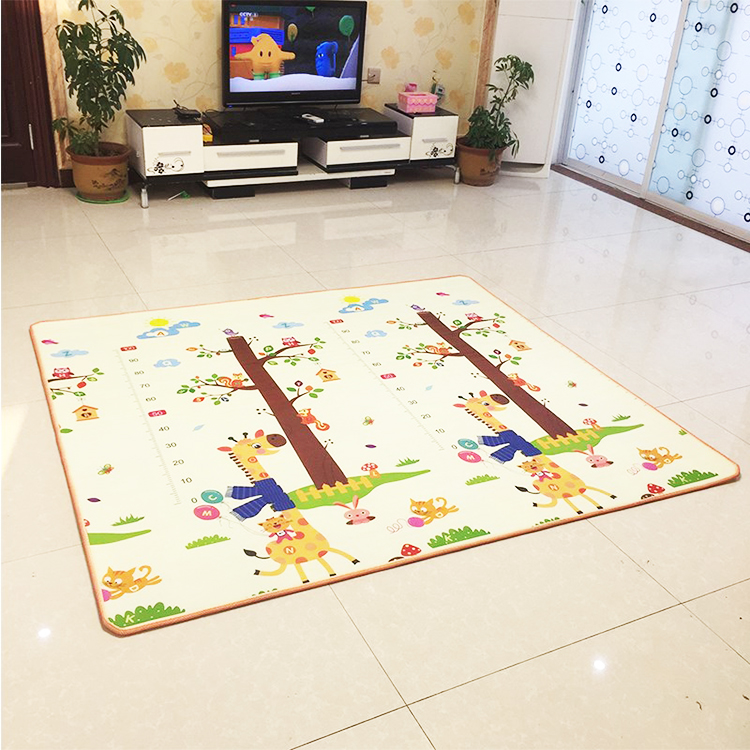 HTB1mRvre8WD3KVjSZFsq6AqkpXaD Infant Shining 200*180*1.5CM Baby Play Mat Thickening Eco-friendly EPE Children Playmat Cartoon Non-slip Carpet Living Room Mat