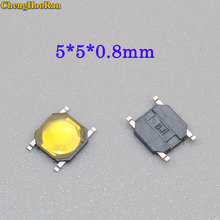 ChengHaoRan 5-50PCS 5*5*0.8mm for phone screen push button waterproof Tactile Switch Momentary tact SMD super tiny low profile