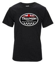 GROßBRITANNIEN KLASSISCHE TRIUMPH MOTORRAD Kurzarm T-shirt Männer Sommer Baumwolle Lässige Kurzarm Rennen Schwarz Basic T-shirts