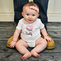 2017 Summer Daddy Princess Newborn Baby Girls Letter O-neck Short Sleeve Cotton Jumpsuit Rompers Cute Bebe Roupas Outfit