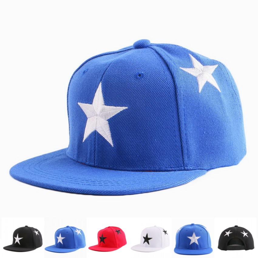 wholesale cheap children star baseball cap hat good quality embroidery star design white red  sports girl boy brand baseball cap