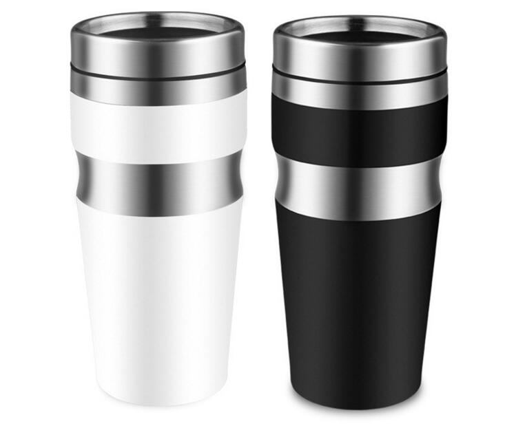 Hot Sale Double Wall Non Vacuum Insulated Travel Mug Stainless Steel Tumbler Sweat Free Coffee Cup Thermos Car Canteen Water Cup