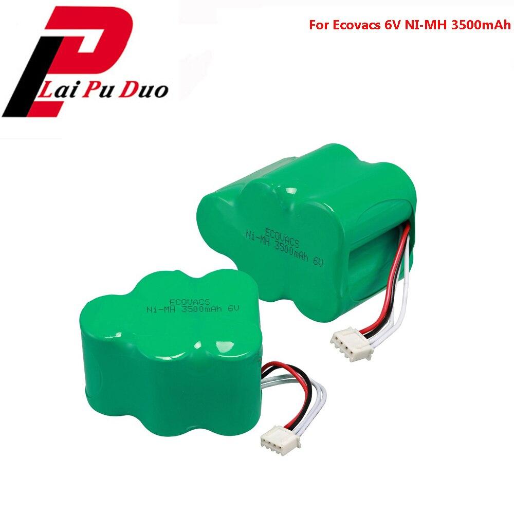 2pcs/lot 6V Rechargeable 3500mAh NI MH Battery for Ecovacs Deebot Deepoo D73 D76 D77 D79 D62 D63 D65 730 760 TBD71 D66 D68