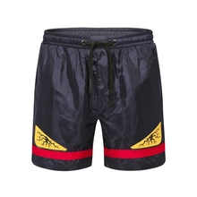 Black animal Board Shorts elastic Surfing Beach Swim Beachwear Cartoon Men