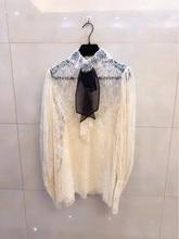 Fashion women's Blouses & Shirts 2018 Runway Luxury Brand European Design party style women's Clothing    WA11219