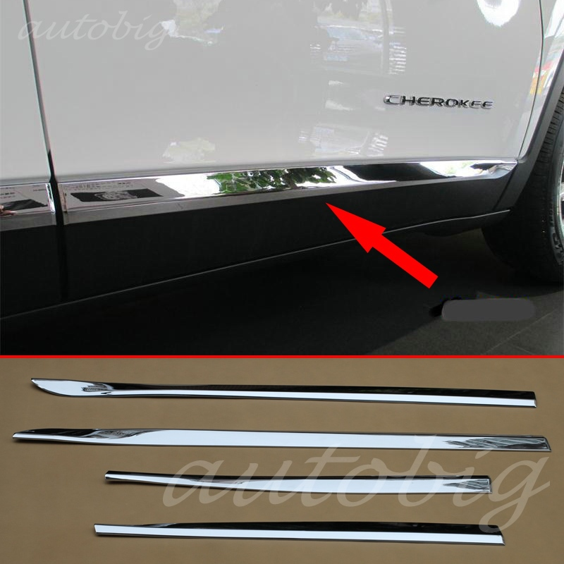 Chrome Door Body Trim For Jeep Cherokee Kl 2014 2015 2016