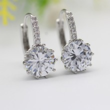 Brincos Special Offer New Alloy Trendy Luxury Ear Stud Earrings For Women 6 Colors With Cubic Zircon Jewelry Gift