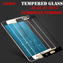 LITBOY Screen Protector For Samsung Galaxy J3 J5 J7 2017 Glass Tempered Glass For Samsung Galaxy J330 J530 J730 Glass Full Cover
