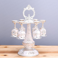 Wine glass set home European white wine one cup upside down personality wine glass holder wine creative decoration
