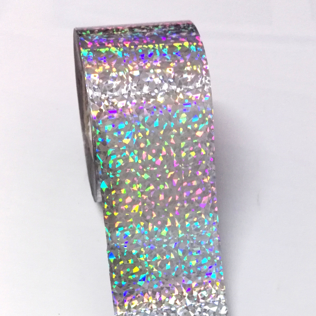 120M*4CM Starry Sky Holographic Nail Transfer Foils Rainbow Laser Silver Cat's Eye Nail Art Stickers Decals Manicure Decorations 3