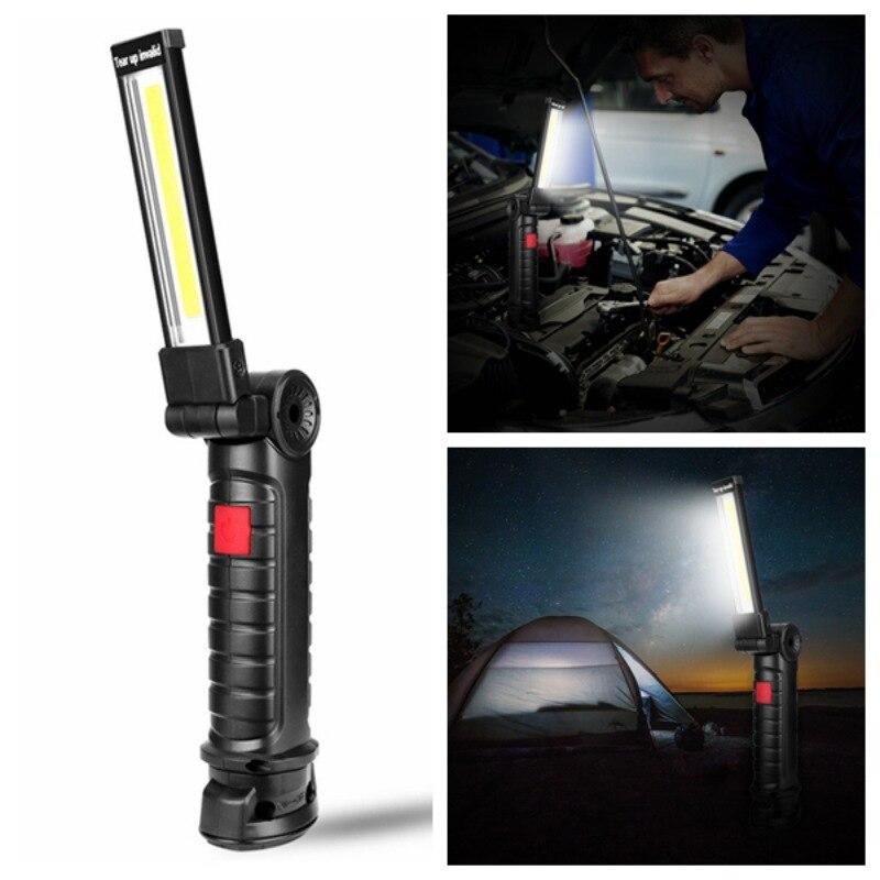 5 Mode COB Flashlight Torch Led Work Light Hanging Hook Lanterna Magnetic Portable Outdoor Camping Lamp