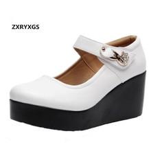 e8432be7a ZXRYXGS Marca Sapatos Inclinação com As Mulheres Sapatos de Salto Alto Novo  2019 Elegante Conforto Sapatos