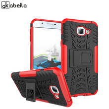 AKABEILA Cell Phone Cases For Samsung Galaxy A8 2016 SAMSUNG A8100 SM-A810  Covers Armor PC+TPU Hybrid Tyre Case Bags Shell