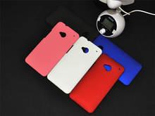 Boa qualidade rígido PC Matte proteção sujeira resistente capa para HTC ONE m7, 5 cores