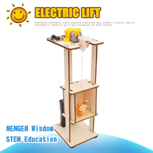 цена на STEM Building Blocks School Science Toy DIY Elevator Children Educational Science Toys Kit Learning Education Toys for Children