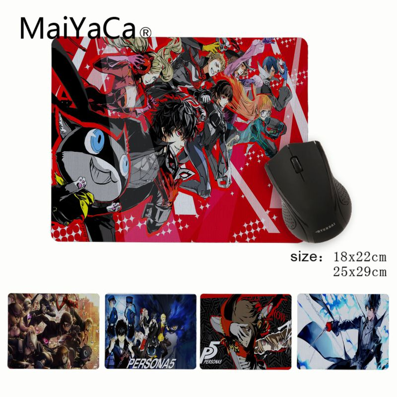 MaiYaCa Hot Sales persona 5 anime game Customized MousePads Computer Laptop Anime Mouse Mat Rubber PC Computer Gaming mousepad image