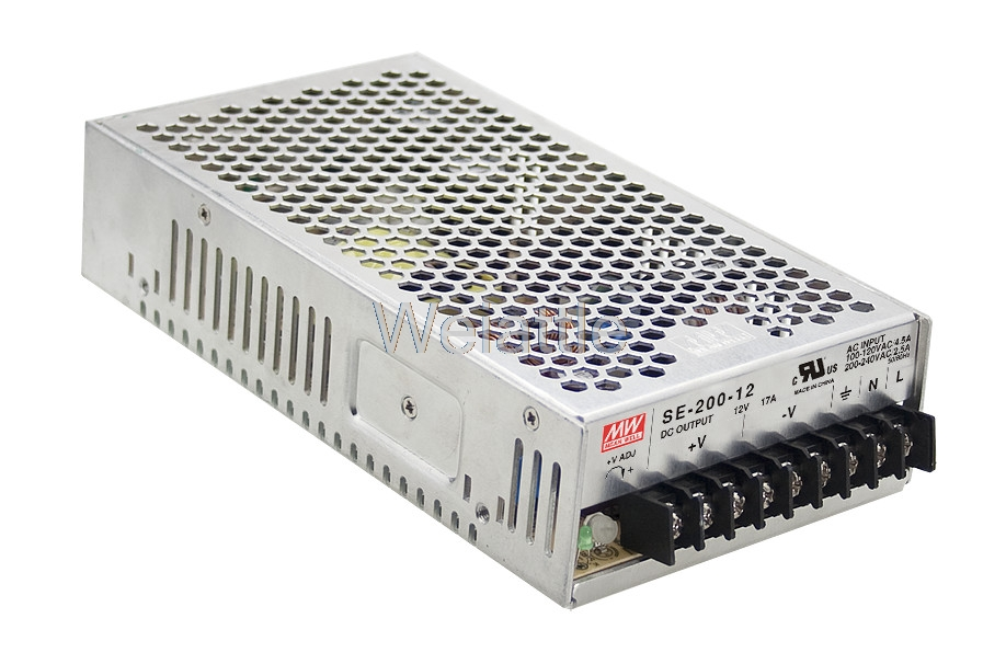 MEAN WELL original SE-200-12 12V 17A meanwell SE-200 12V 204W Single Output Switching Power SupplyMEAN WELL original SE-200-12 12V 17A meanwell SE-200 12V 204W Single Output Switching Power Supply