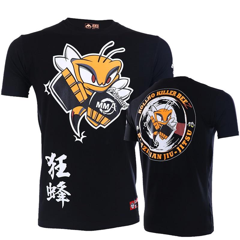 Soft Mma Boxing T Shirt BJJ Men Muay Thai Breathable BJJ Kickboxing Shirt Boxe Thai Fighting Boxing Jerseys Sport Gym Shirts