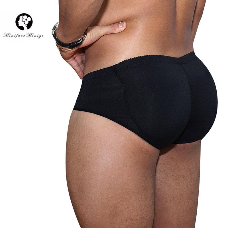 Minifaceminigirl Men's Slimming Padded Underwear Tummy Control Shorts Seamless Butt Lifter Hip Enhancer Shaper Briefs Shapewear