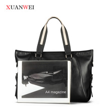 Black/Brown Messenger Bags Small single shoulder bags Full-grain Leather HandBag for business or Leisure (XW9006-S)