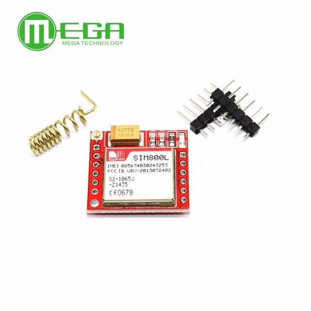 Menor sim800l gprs gsm módulo placa de núcleo cartão microsim quad band ttl porta serial