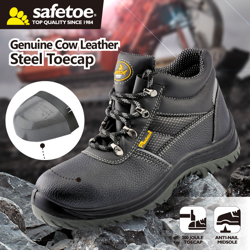 4cf3b3478586 Men Safety Shoes Work Boots Steel Toe Breathable Comfortable Hiking ...