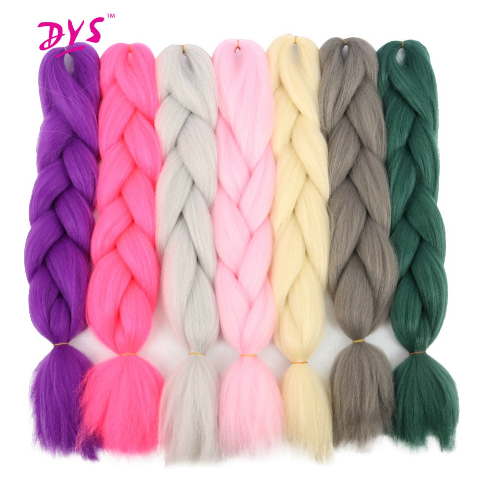 Deyngs Ombre Kanekalon Braiding Hair Three Tone Synthetic Kinky Twist Braiding Hair Extensions For Braid 1pcs/pack 24inch 60cm