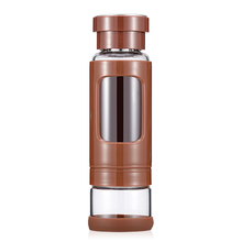 KAXIFEI High quality 430ML Glass water bottle with tea infuser water tea bottle heat-resisting 4 colors