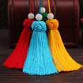 10pcs 7.5cm Hot sale Jewelry Findings Mix color Silk Tassel Acrylic Beads Cap Charm for Bags Moblie Making Mob Straps Keychain