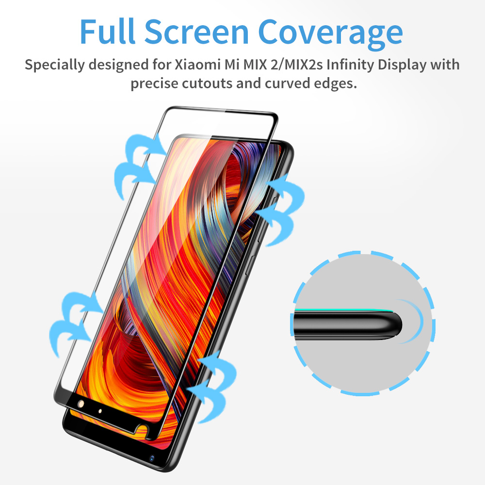 Image 4 - ESR Xiaomi MIX 2 2S Screen Protector for Xiaomi 8 8 SE Tempered Glass 3X Stronger 9H 3D Full Coverage Xiaomi MI 6 Protector Film-in Phone Screen Protectors from Cellphones & Telecommunications on