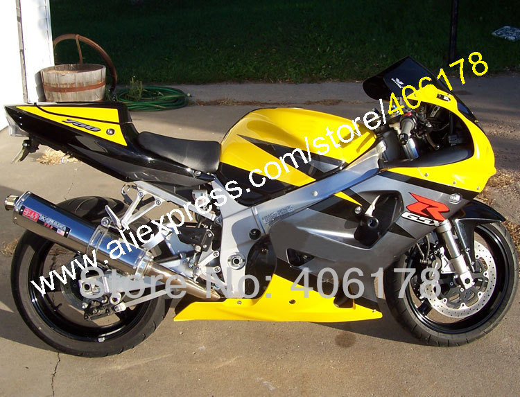 Hot Sales,Yellow For SUZUKI GSXR 600 750 K1 2001-2003 GSX-R600 GSX-R750 R600 R750 Motorcycle fairing Kits (Injection molding)