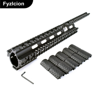 MNT T228 Tactical Quad Rail Mount Handguard Rail With 12 Covers For Hunting 10 22 Commando