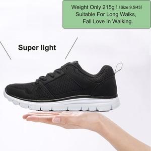 Image 2 - 2020ใหม่ชายรองเท้าSuper Light Breathableตาข่ายรองเท้าผ้าใบManเดินสบายรองเท้าLace Upรองเท้าสีดำชาย40 50
