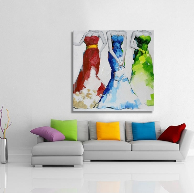 Modern Man runing wall art picture on canvas 100% handmade oil painting for conference room decoration No frame
