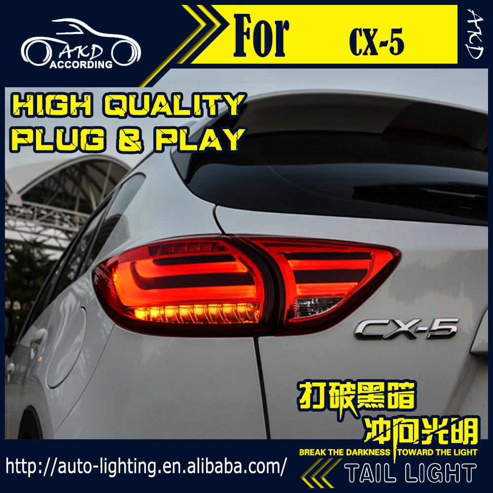 AKD Car Styling Tail Lamp for Mazda CX-5 Tail Lights CX5 LED Tail Light LED Signal LED DRL Stop Rear Lamp Accessories