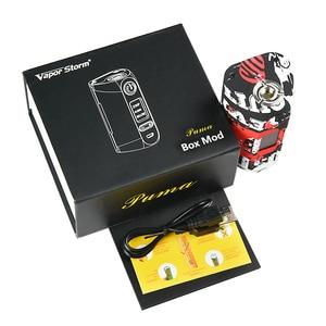Image 5 - Vapor Storm Storm230 Bypass 200W VW TCR Electronic Cigarette RDA RDTA Box Mod Vapes Fashion Mod Support Dual 18650 Battery