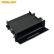 FEELDO 1DIN Car Stereo Refitting Dashboard Installation Trim Fascia Storage Box Spacer With Lid For Toyota  #FD-1497