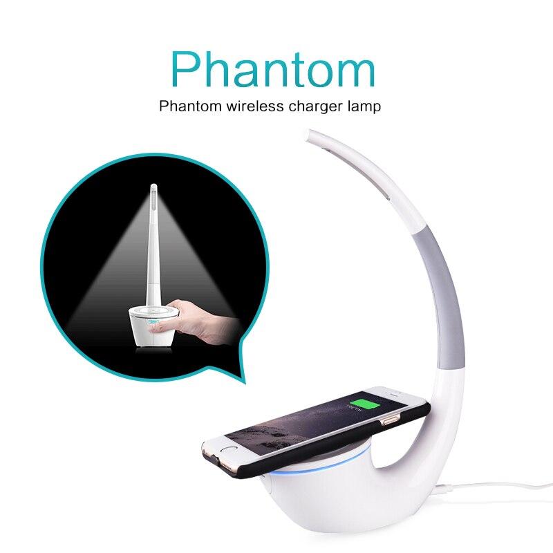 Nillkin Qi inalámbrico cargador Phantom lámpara de mesa LED de carga para el iPhone 8 8 más galaxia Nota 8 cargador inalámbrico