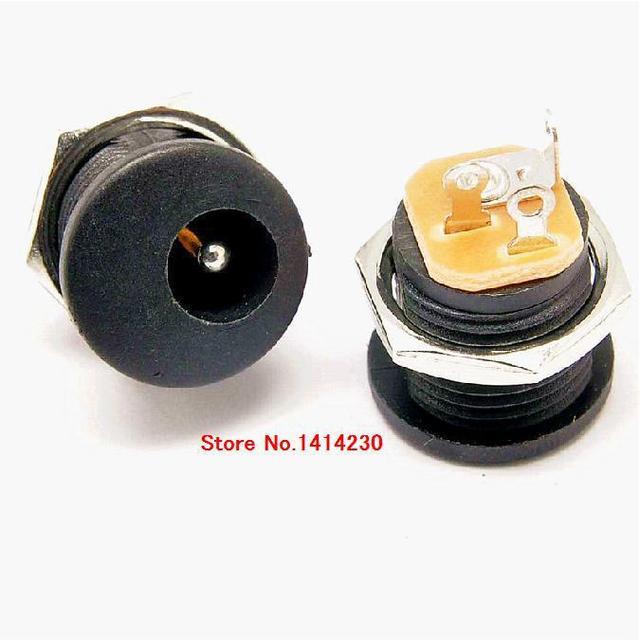 Горячие продаж 10 шт. DC-022 5.5-2.1/5.5x2.1 мм DC Мощность гнездо/DC разъем Панель монтаж DC022